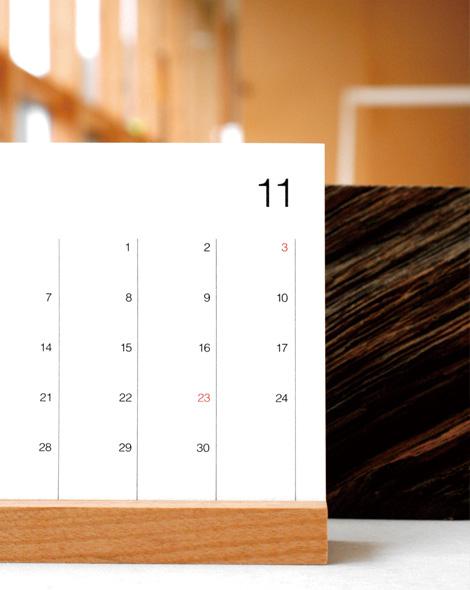 シンプルな木製卓上カレンダー ...